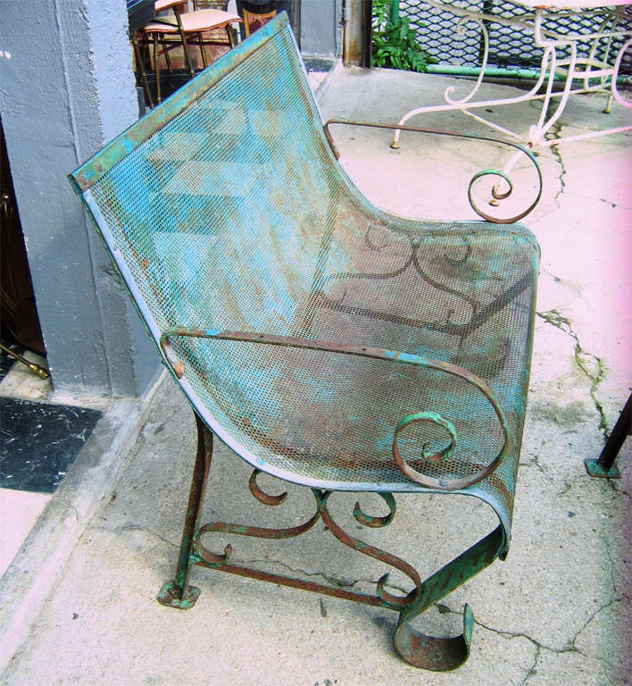 Two 1950s Iron Benches 4