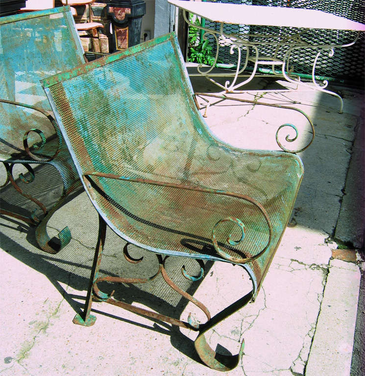 Two 1950s Iron Benches 5