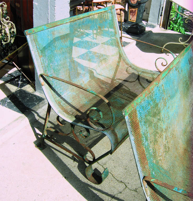 Two 1950s Iron Benches For Sale 2