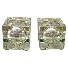Pair of Cubosfero Lamps by A. Mendini