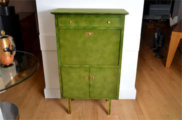 Lacquered Secretaire By Jules Leleu image 2