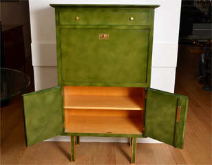 Lacquered Secretaire By Jules Leleu image 7