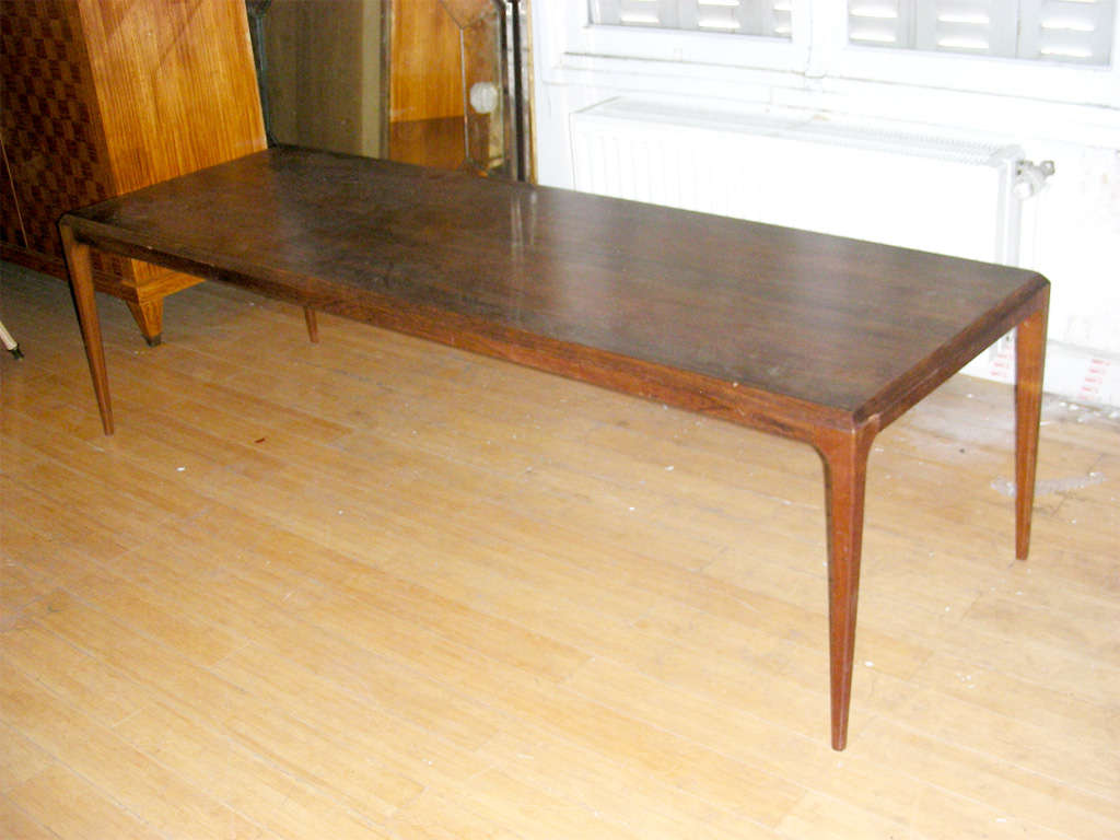 Johannes Andersen Very Long Coffee Table In Rosewood For Sale At 1stdibs