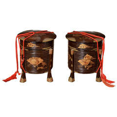 A Pair Of Japanese Lacquer  'hakko Bako' Boxes And Covers  Edo Period