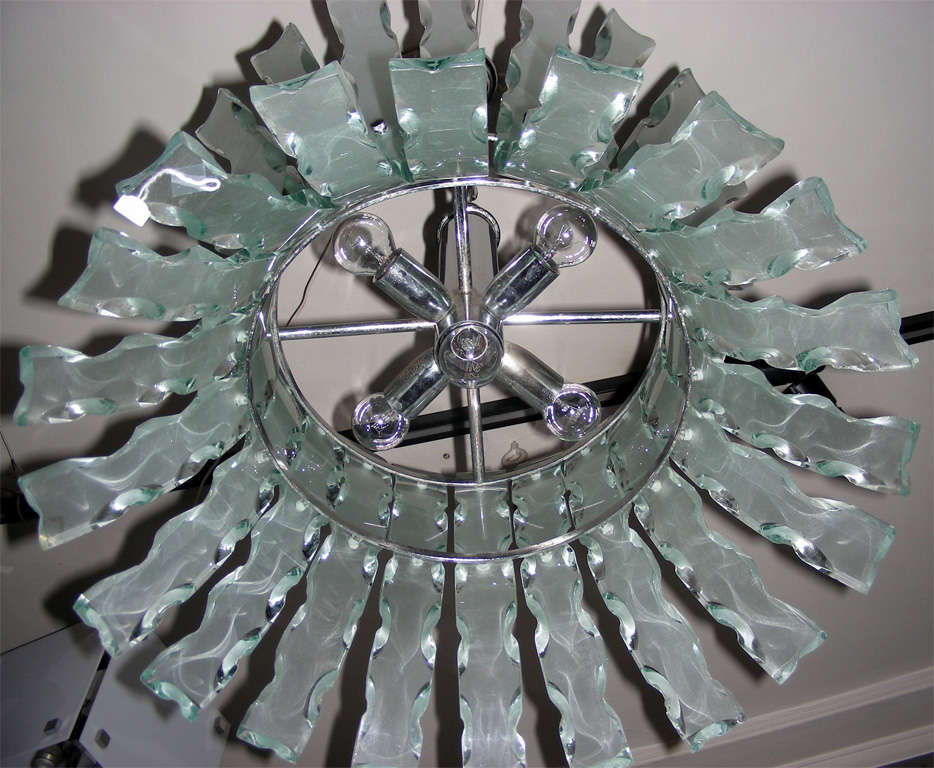 Late 20th Century Chandelier by Zero Quattro For Sale