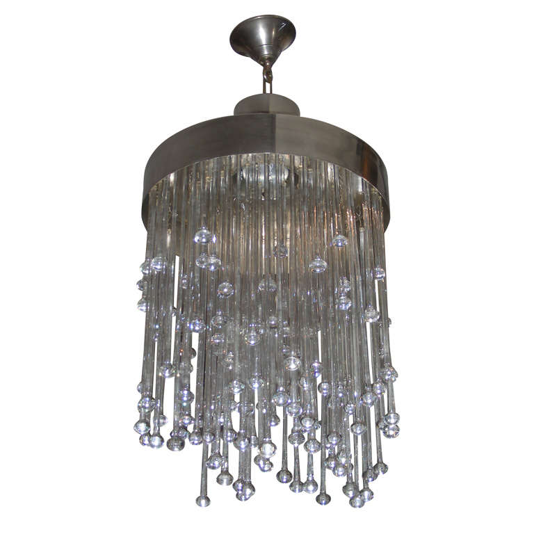1970s Baccarat Crystal Chandelier At 1stdibs