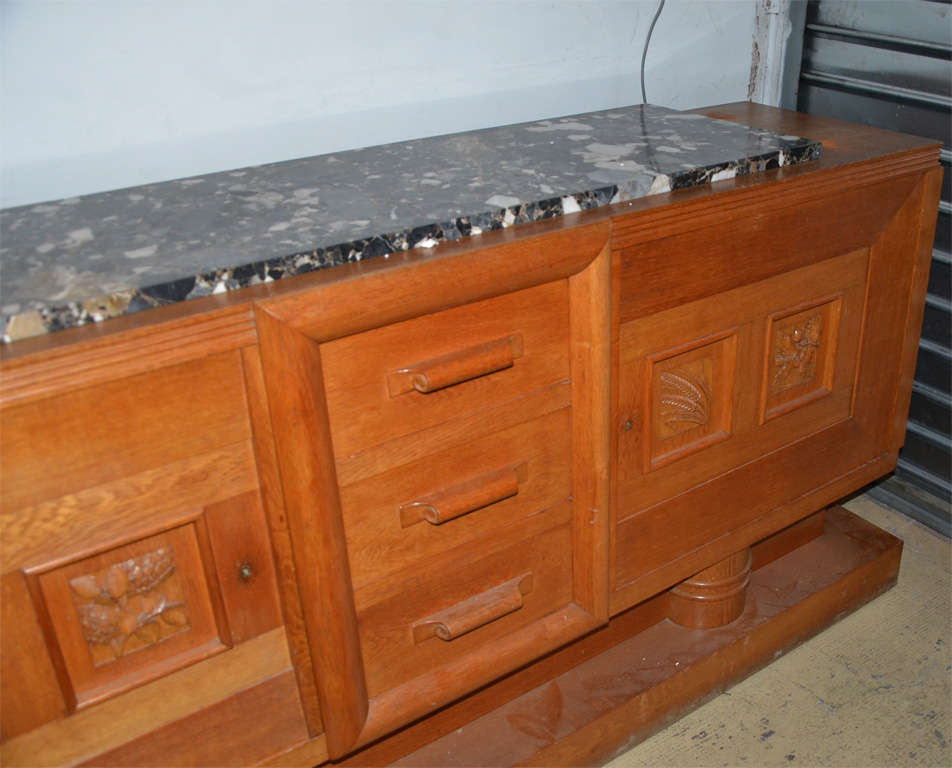 French 1940's oak sideboard For Sale
