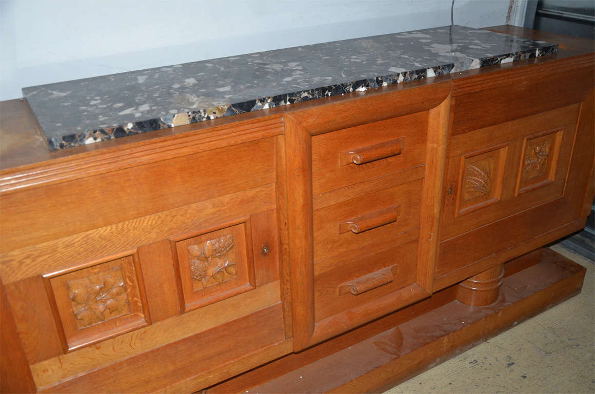 Mid-20th Century 1940's oak sideboard For Sale
