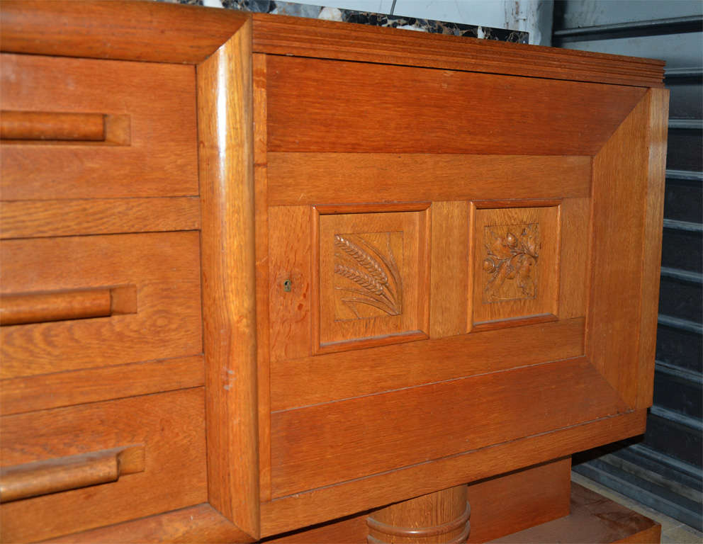 1940's oak sideboard For Sale 1