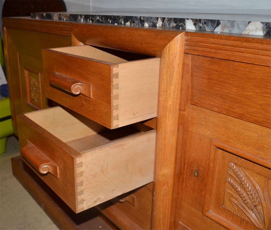 1940's oak sideboard 9