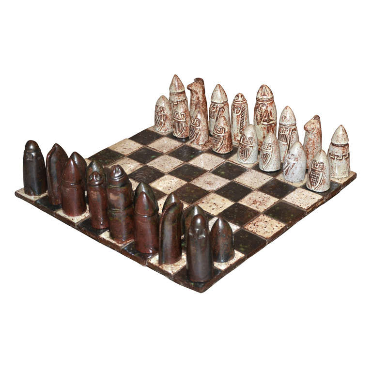 1960s Chess Game by Andree Hirlet-Albrieux