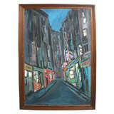 1978 French Street View Painted by Claude Candela