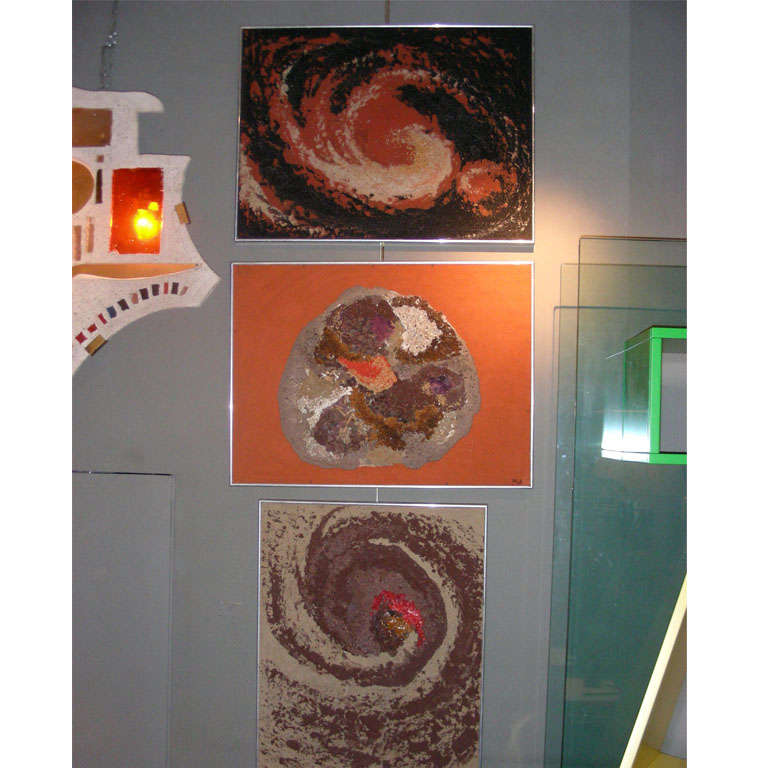 Series of seven 1970s paintings signed