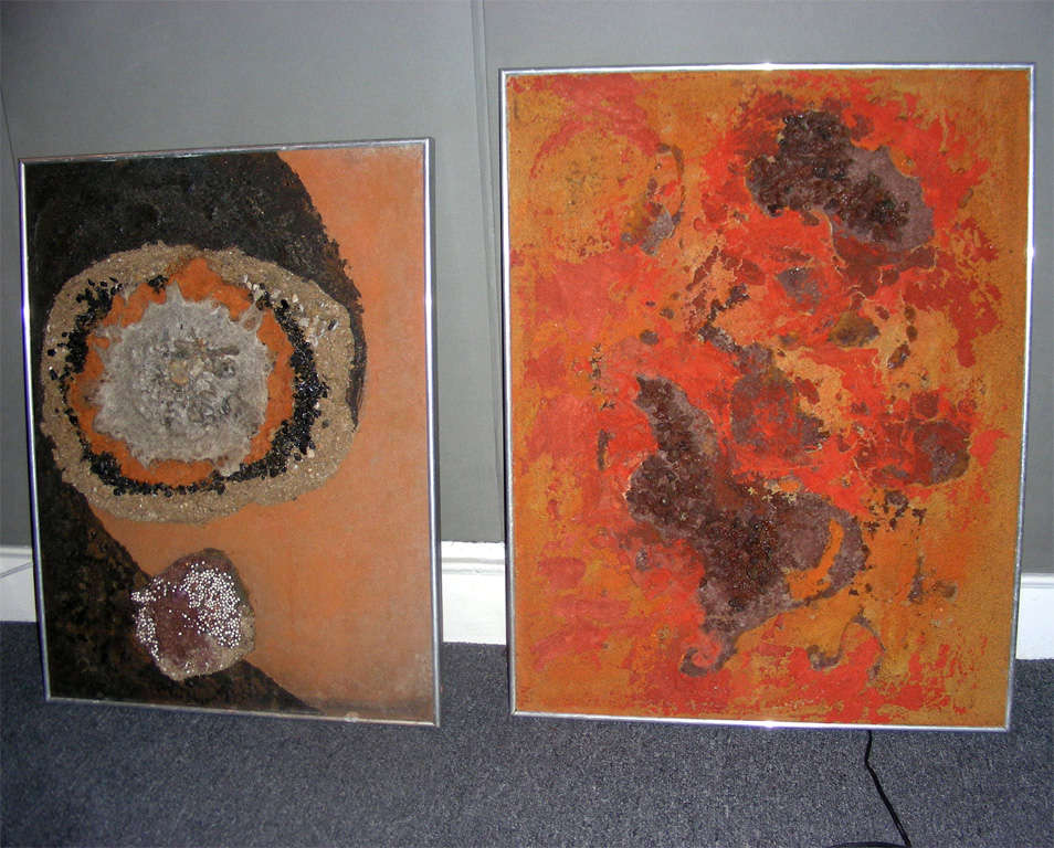Series of Seven 1970s Paintings on the Cosmos by