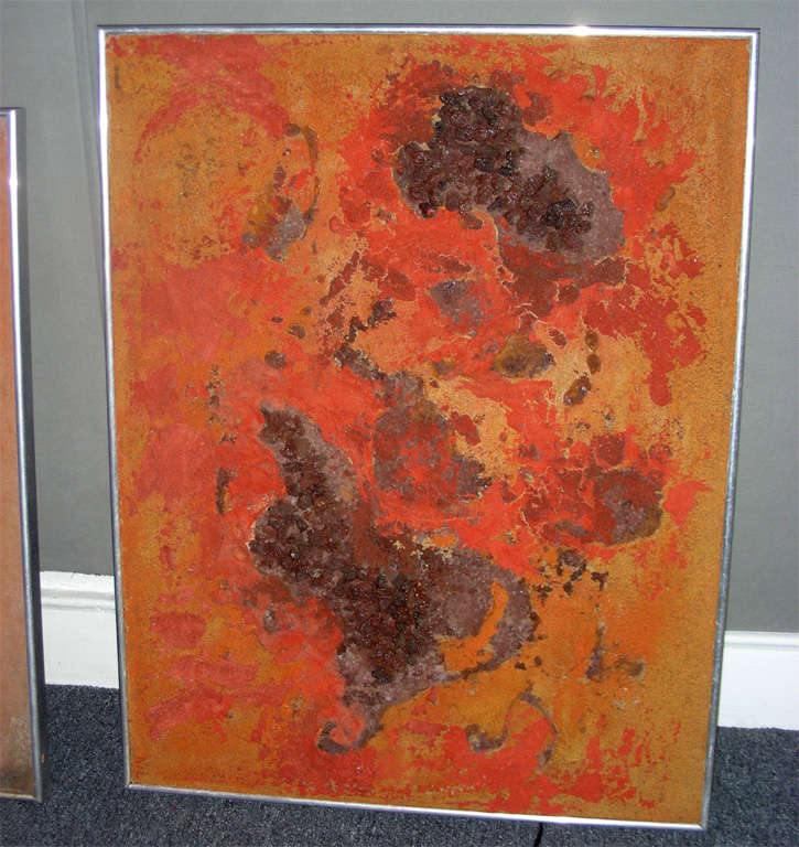 Late 20th Century Series of Seven 1970s Paintings on the Cosmos by