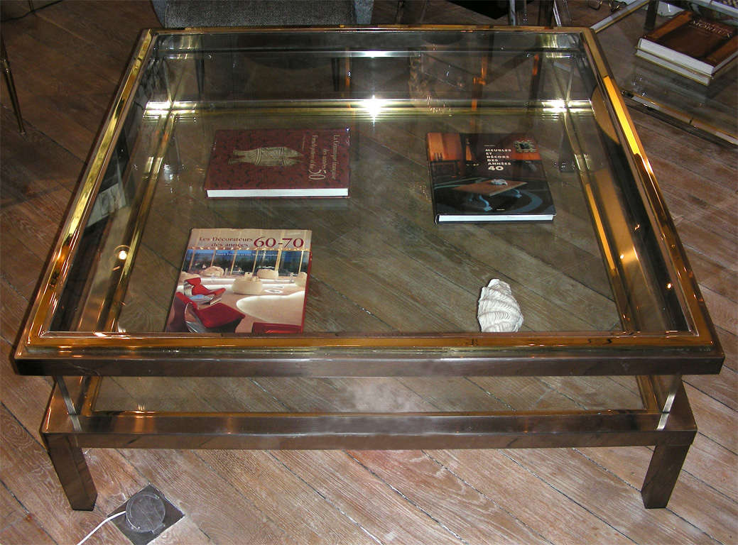 An impressive romeo rega vitrine coffee table at 1stdibs for Table vitrine