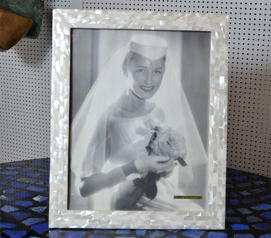 Fantastic mother of pearl frame