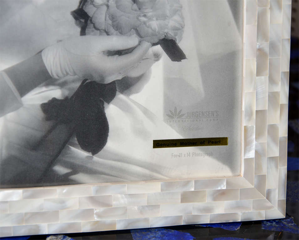 French Beautiful Picture Frame in Mother of Pearl For Sale