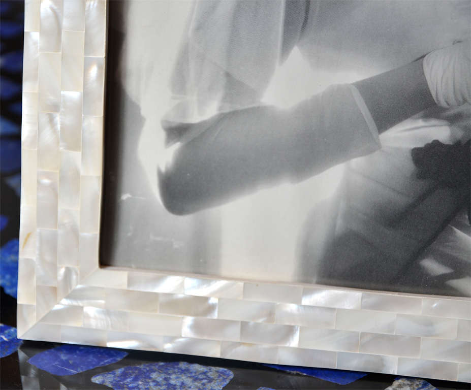 Mid-20th Century Beautiful Picture Frame in Mother of Pearl For Sale