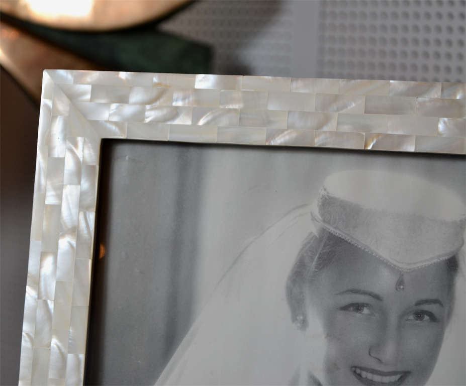 Mother-of-Pearl Beautiful Picture Frame in Mother of Pearl For Sale
