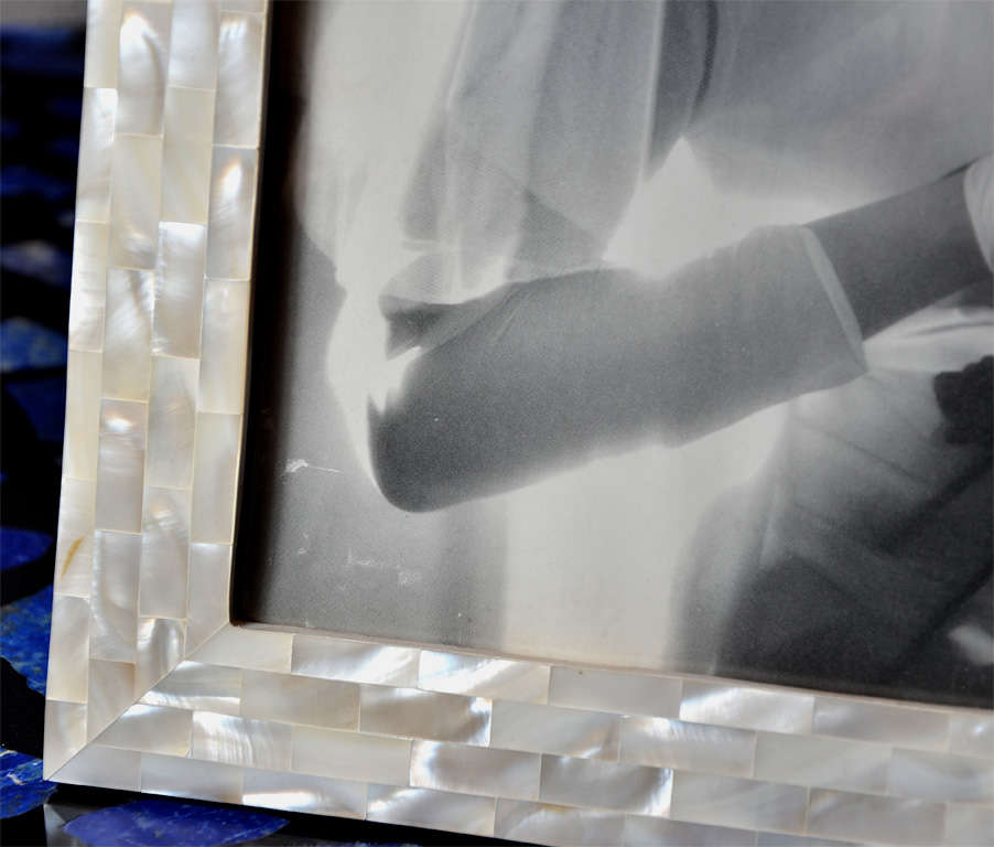 Beautiful Picture Frame in Mother of Pearl For Sale 3