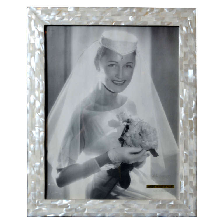 Beautiful Picture Frame In Mother Of Pearl For Sale At 1stdibs
