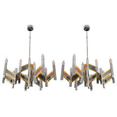 Pair of 1960's Chandeliers by Sciolari