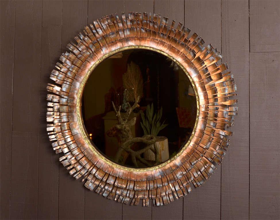 Eye Lash Mirror In Copper&brass By Curtis Jere 3