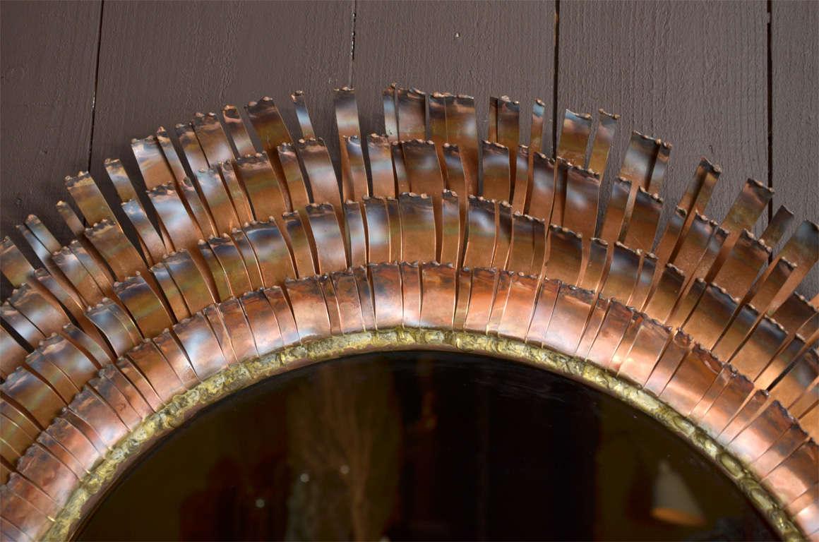 Eye Lash Mirror In Copper&brass By Curtis Jere 4