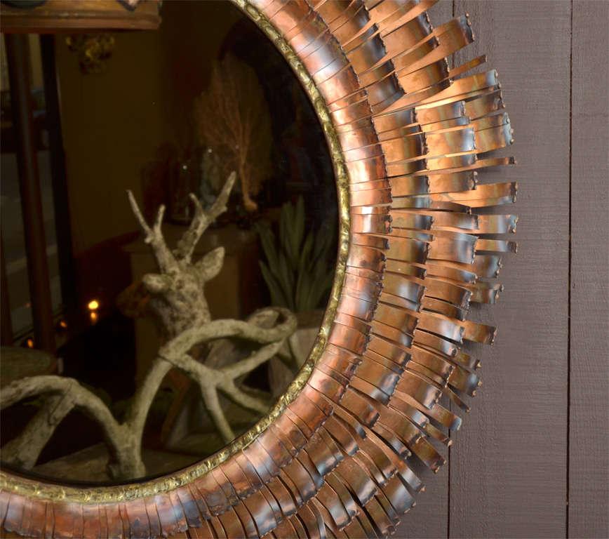 Eye Lash Mirror In Copper&brass By Curtis Jere 5