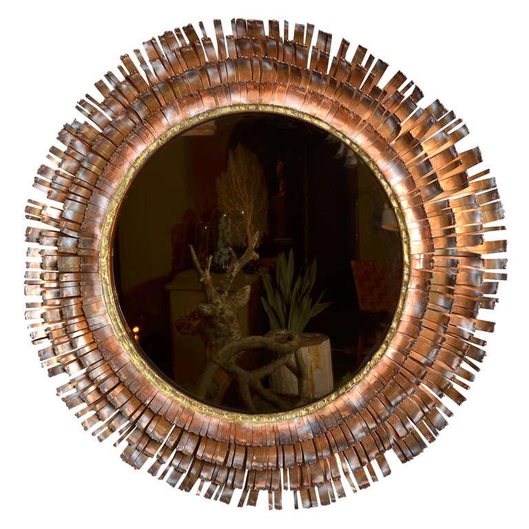Eye Lash Mirror In Copper&brass By Curtis Jere 1
