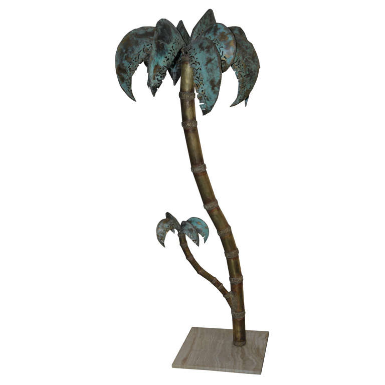 Palmtree Floor Lamp by French Artist at 1stdibs