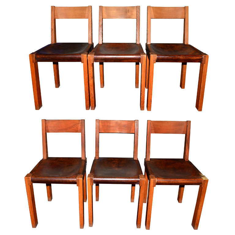 Six 1950 1960 Chairs by Pierre Chapo at 1stdibs : xDSC4648 from 1stdibs.com size 768 x 768 jpeg 52kB