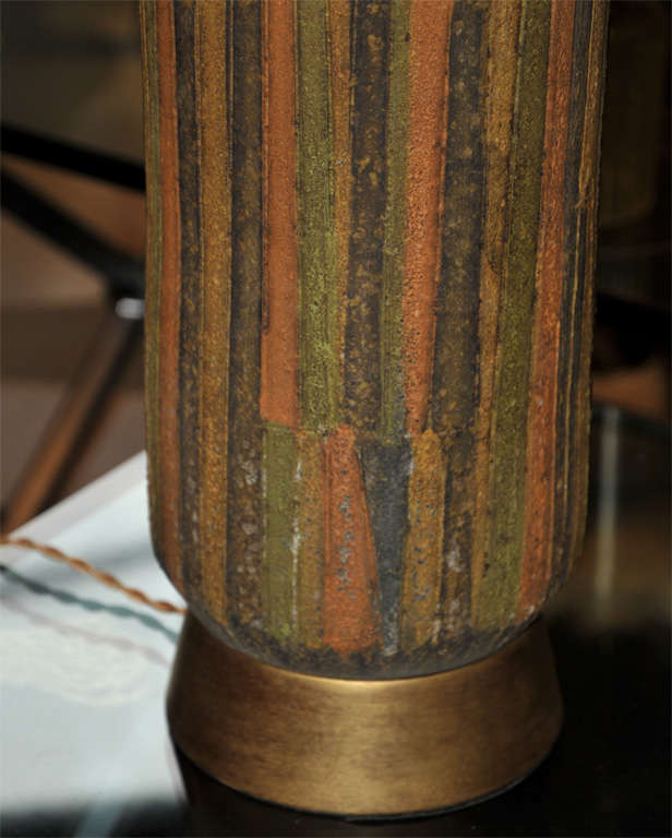 French 1950-1960 Vallauris Ceramic Lamp For Sale