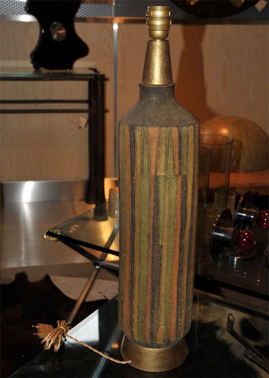 1950-1960 Vallauris Ceramic Lamp For Sale 1