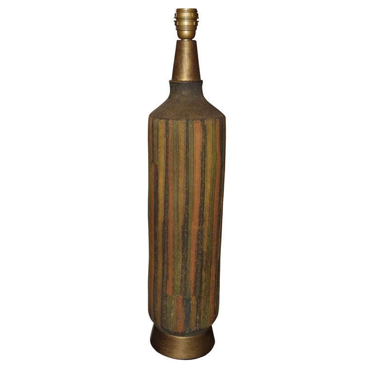 1950-1960 Vallauris Ceramic Lamp For Sale