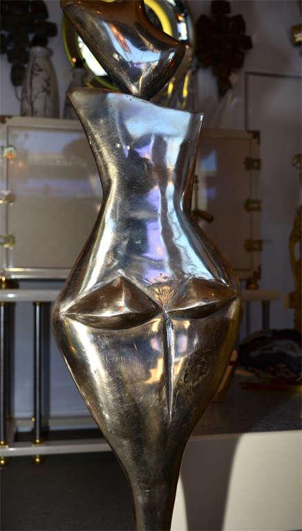 Fantastic Floor Lamp in Polished Bronze For Sale 4