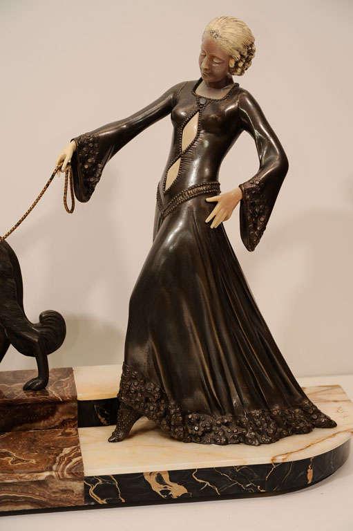 Art Deco Bronze Sculpture by Georges Gori 2