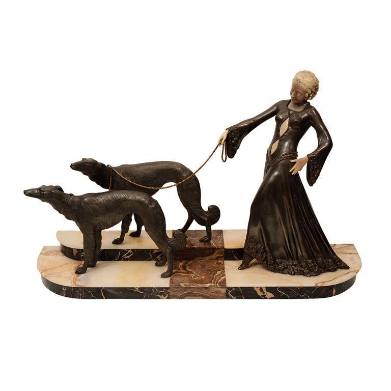 Art Deco Bronze Sculpture by Georges Gori