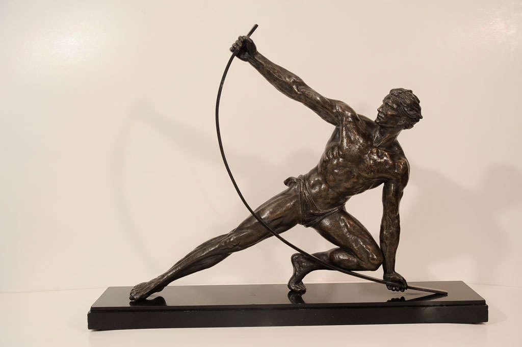 art deco bronze sculpture at 1stdibs. Black Bedroom Furniture Sets. Home Design Ideas
