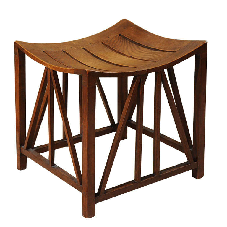 Egyptian Style Oak Thebes Stool At 1stdibs