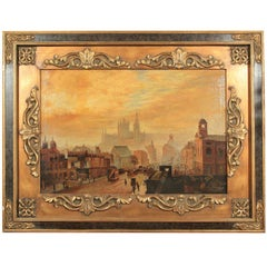 """Oil on Canvas """"City View"""""""