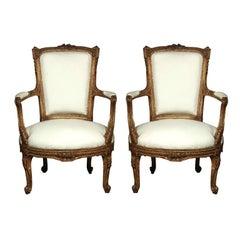 Pair of Stamped Maison Jansen Armchairs