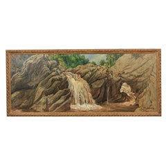 Fine Oil on Canvas Signed Schnakenberg Roxbury Falls