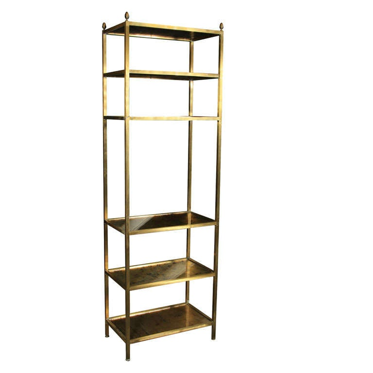 maison jansen bronze etagere at 1stdibs. Black Bedroom Furniture Sets. Home Design Ideas