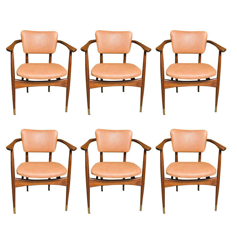 set of 6 chairs by stylecraft at 1stdibs