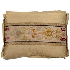 Maison Maison Antique Cross Stitch Needlepoint Pillow