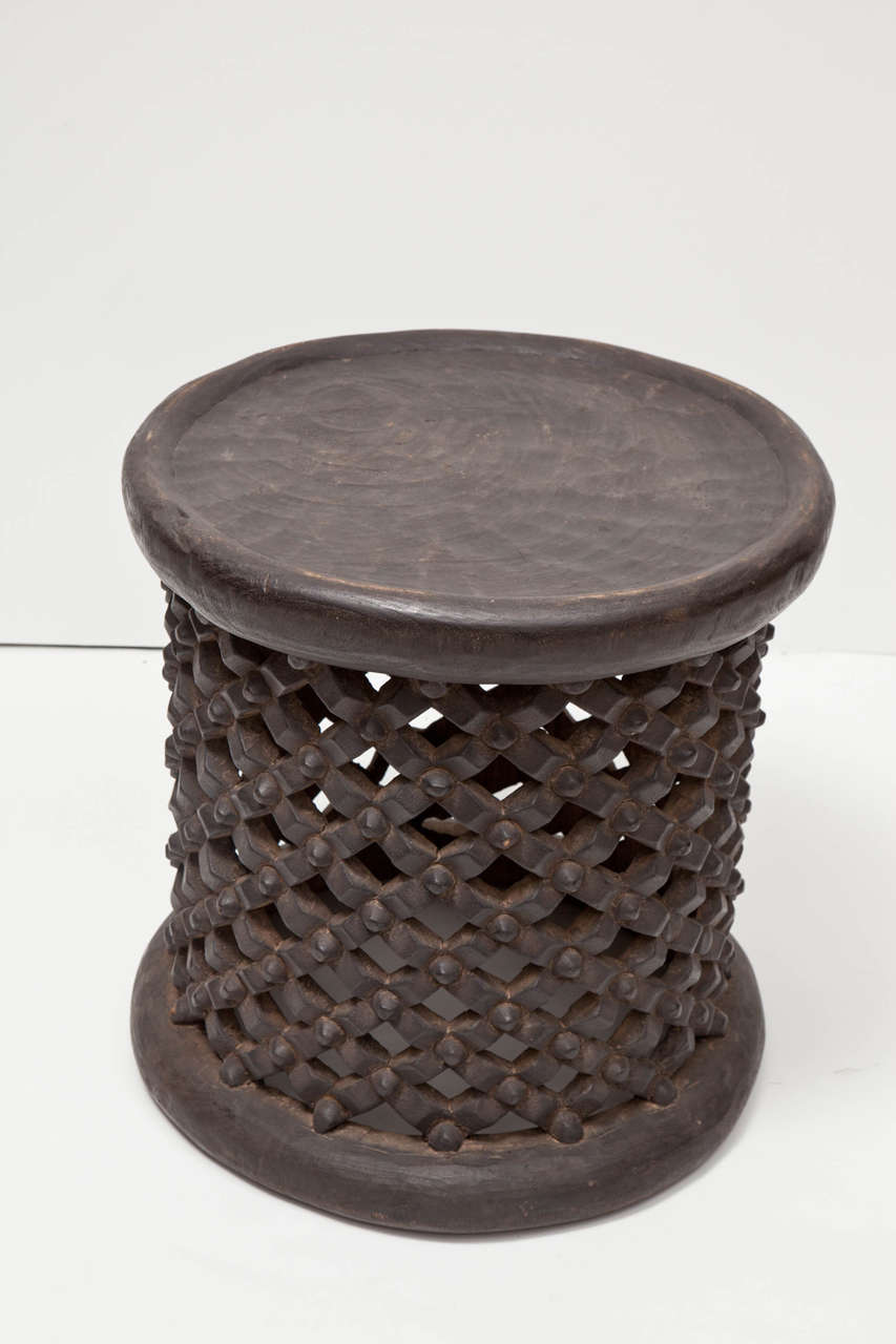 African Tall Drum Table For Sale 1