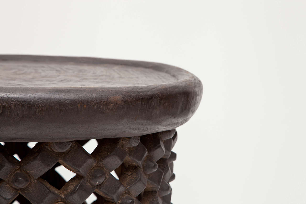 African Tall Drum Table For Sale 2
