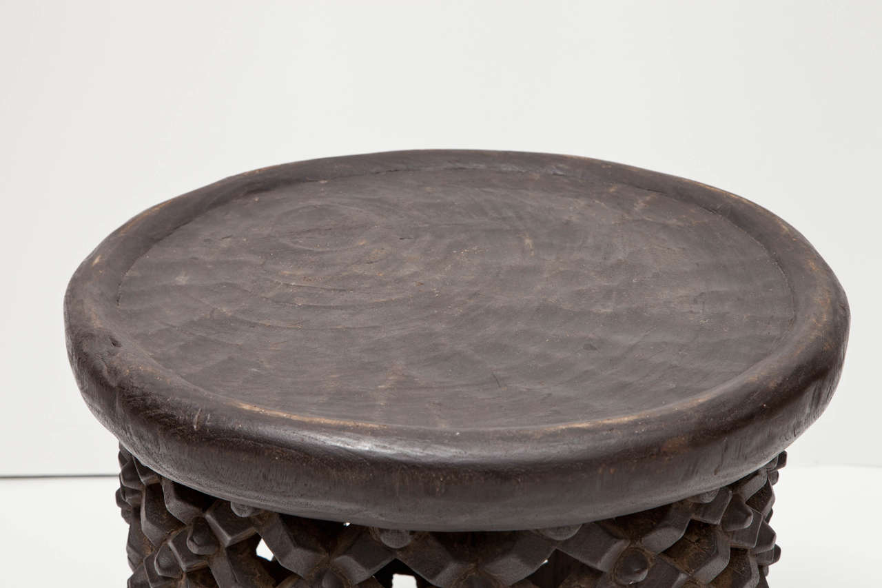African Tall Drum Table For Sale 3